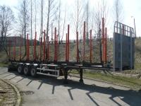 Полуприцеп ZASŁAW для перевозки древисины, в версии c переставными стойками